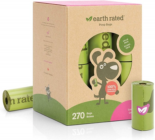 Earth Rated Extra Thick And Strong Poop Bags For Dogs
